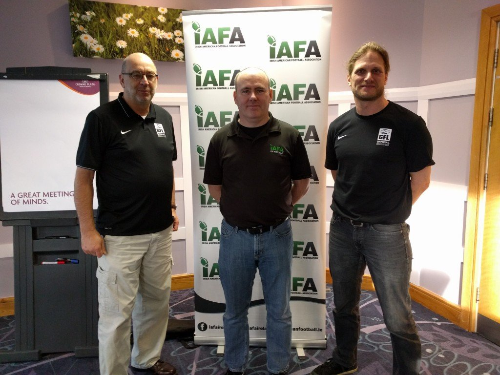 GFL tutors Christian and Heinz with Director of Officiating Derek Ward