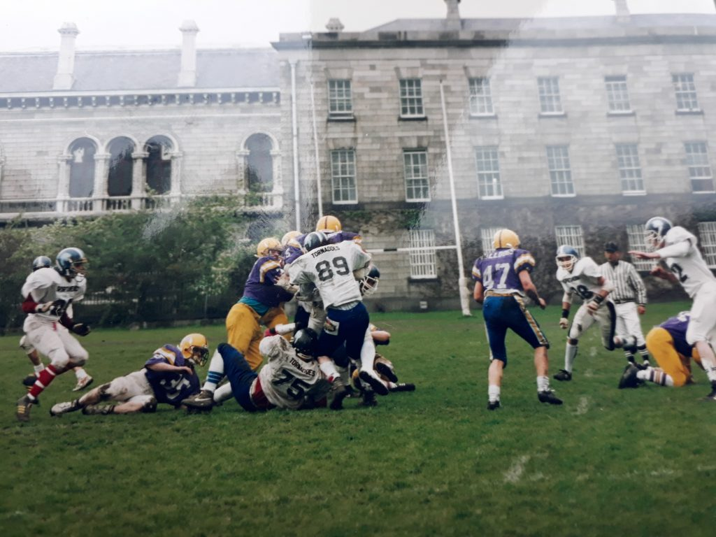 6a24e9da This is from the first ever American football game played on the historic  campus of Trinity College Dublin. The game was part of the festivities for  the ...