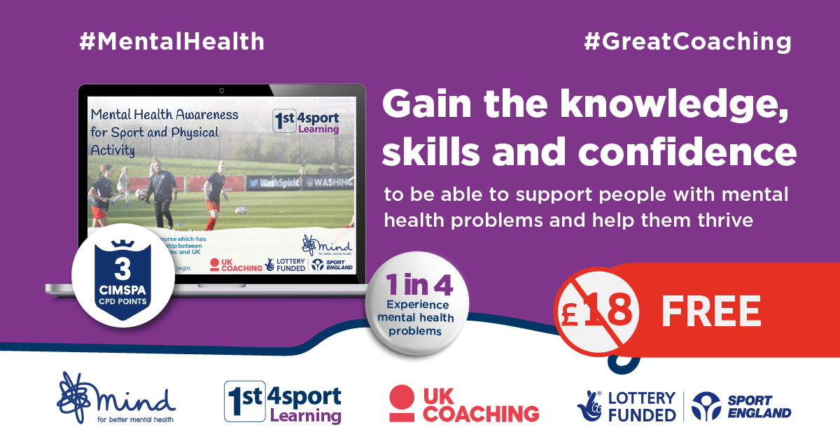 Coaching Course: Mental Health Awareness for Sport & Physical Activity