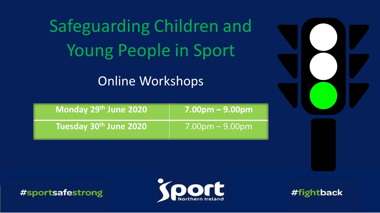SportNI Safeguarding Children and Young People – Online Workshops Now Available