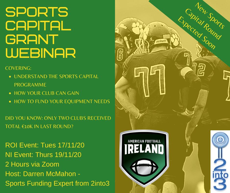 AFI Sports Capital Grant Webinars